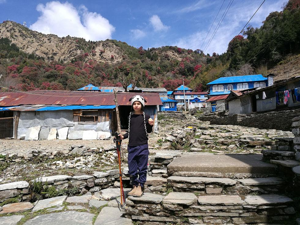 אופיר בטרק פון היל, נפאל (צילום: משפחת מרגלית)