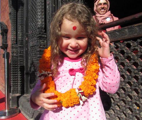 מעין בצ'נגרה גירי, נפאל (צילום: משפחת מרגלית)