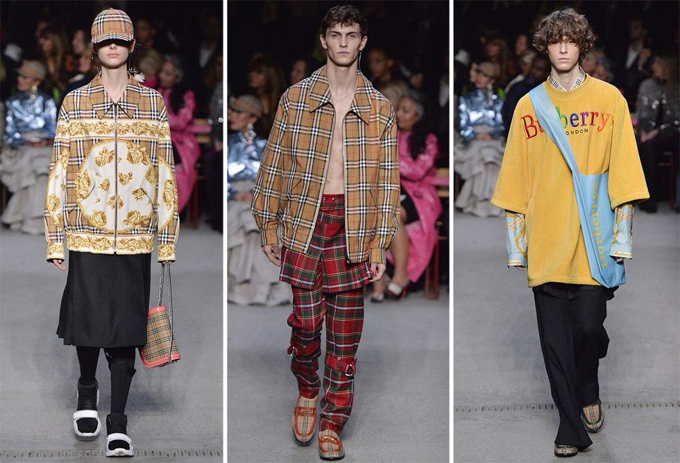 בעידן בו קיימות הפכה למילת מפתח בתעשיית האופנה, הדיווח של ברברי על השמדת המוצרים לא עבר בשתיקה ברשתות החברתיות. תצוגה של בית האופנה הבריטי (צילום: GettyimagesIL)