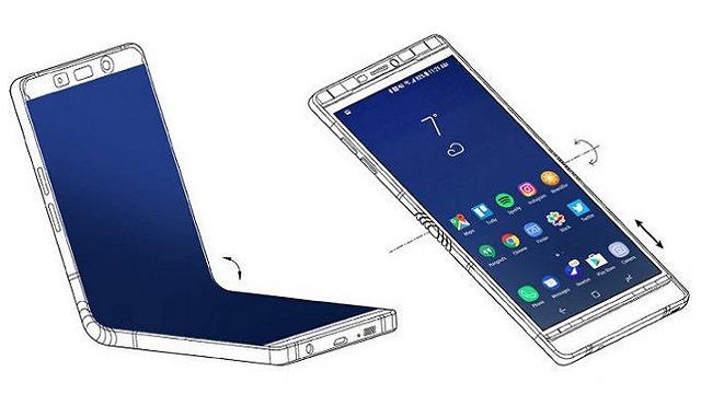 סמארטפון עם מסך מתקפל (צילום מסך)