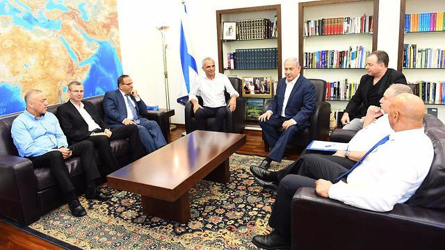 Netanyahu meets with MKs and ministers to discuss the Druze community (Photo: Haim Tzah, GPO)