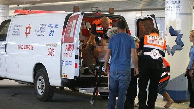 "Раненые доставлены в больницу ""Хадасса - Хар ха-Цофим"". Фото: Охад Цвайгенберг"