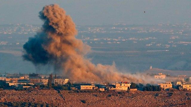 Assad forces bombing rebels (Photo: AFP)