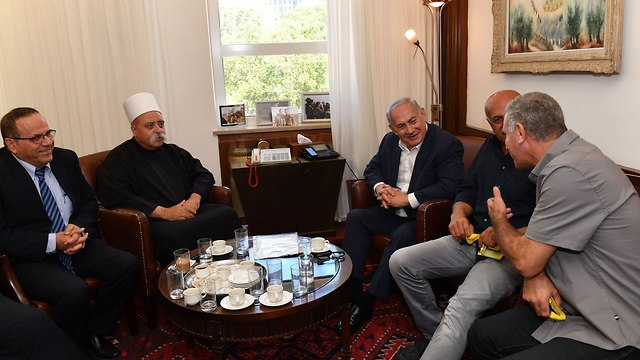 PM Netanyahu meets with Druze community representatives (Photo: Kobi Gideon/GPO)