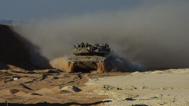 IDF tank on the Gaza border (Photo: IDF Spokesman's Office)