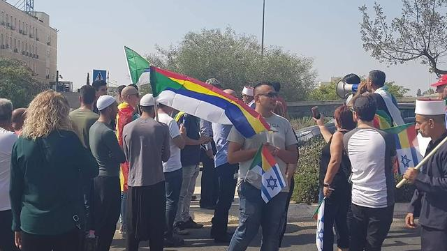 Druze protesting against the Nationality Law (Photo: The Druze Community in Israel Facebook page)