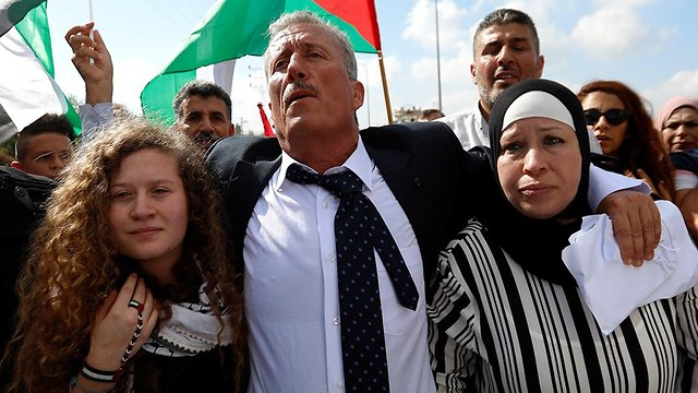 Ahed, Bassem and Nariman Tamimi (Photo: Reuters)