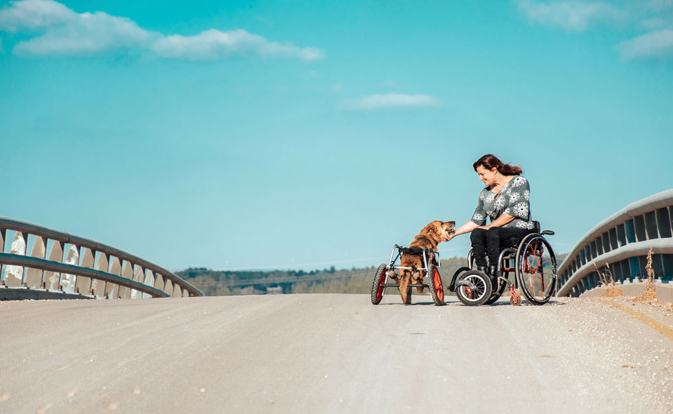 """כנרת וואלך והכלב שלה קרוזו. """"נשבעתי לעצמי שנעשה הכל, כל מה שנצטרך, אבל לא נרדים אותו"""" (צילום: רותם דוזטס)"""