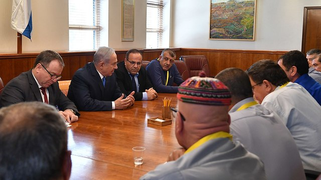 Netanyahu meets with Druze leaders (file photo) (Photo: Koby Gideon/GPO)