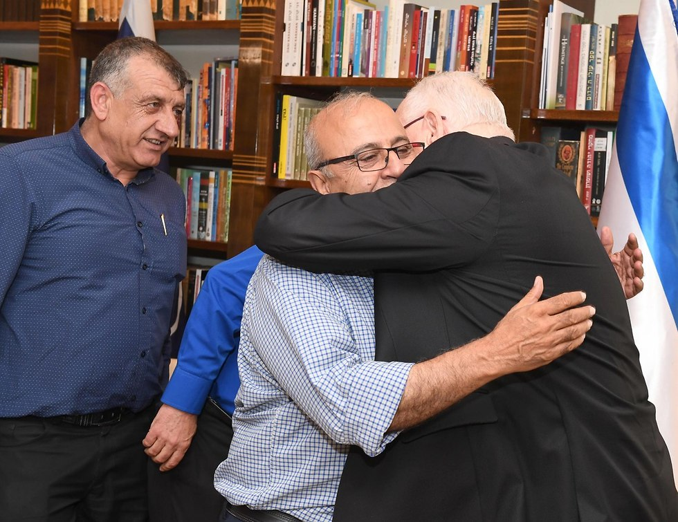 President Rivlin and Druze community leaders (Photo: Mark Neiman/GPO)