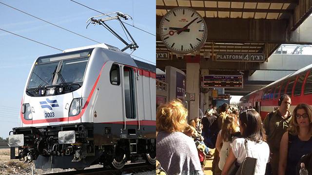 רכבת קו מהיר תל אביב ירושלים סבידור (צילום: הלל מאיר/TPS, יגאל טויסטר)