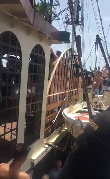 הספינה שבה התקיימה אותה מסיבה בלב הים