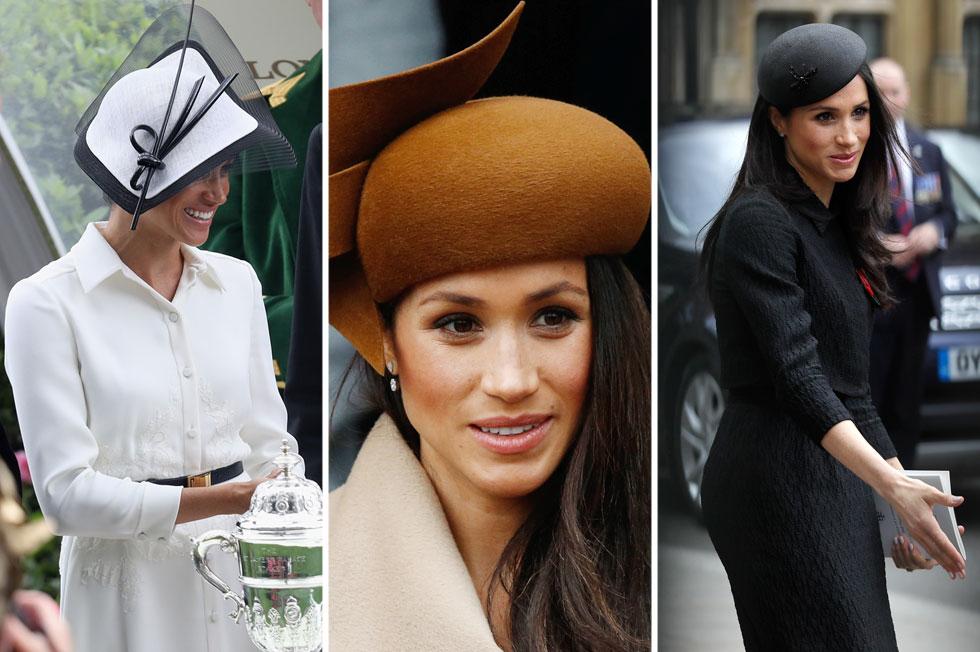 עם כניסתה למשפחת המלוכה אימצה מרקל את שני הכובענים הבריטיים המפורסמים בעולם: סטיבן ג'ונס ופיליפ טרייסי. האחרון אחראי על רוב הכובעים שחבשה עד כה, כולל כובע הפרילין החום והשנוי במחלוקת, שממנו והלאה טעמה בכובעים רק הלך והשתפר  (צילום: Chris Jackson, AP/GettyimagesIL)