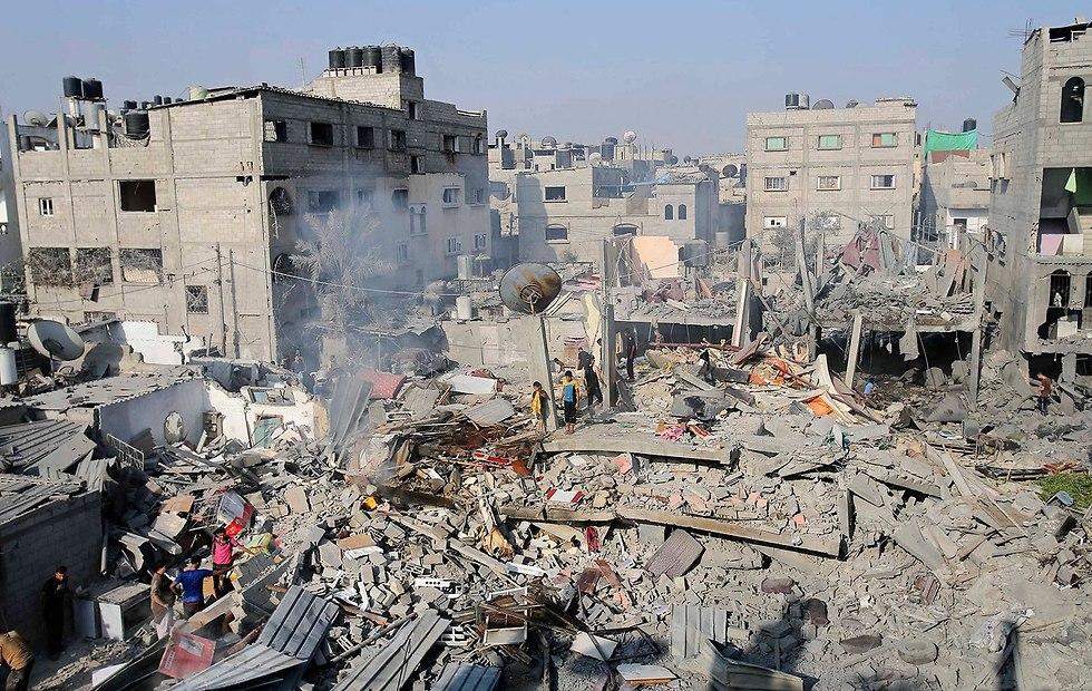 Destruction in Gaza following IDF bombing in Rafah (Photo: Reuters)