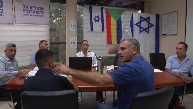 ישיבת תכנון לקראת עצרת המחאה של הקהילה הדרוזית בחיפה (צילום: שמיר אלבז)
