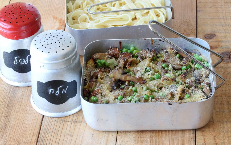 פסטה עם טונה ופטריות (צילום, סגנון והכנה: אסנת לסטר)