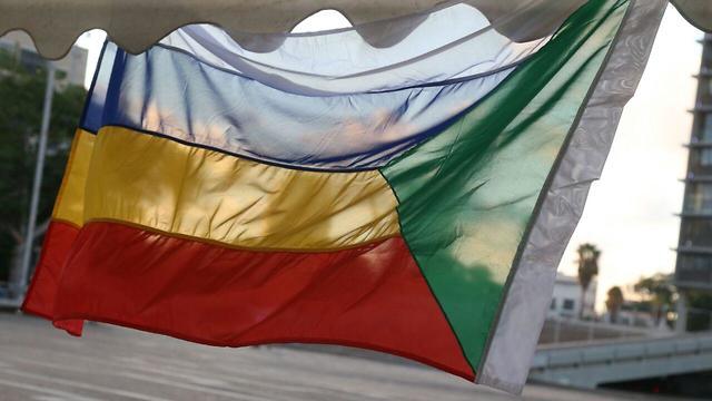 מאהל מחאת הדרוזים בכיכר רבין (צילום: מוטי קמחי)