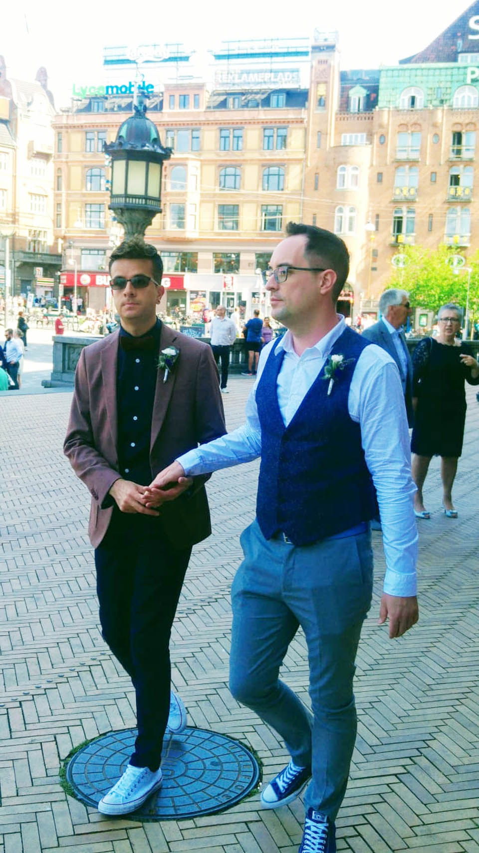 Роландо (в темных очках) и Нил в Копенгагене. Фото: из личного архива