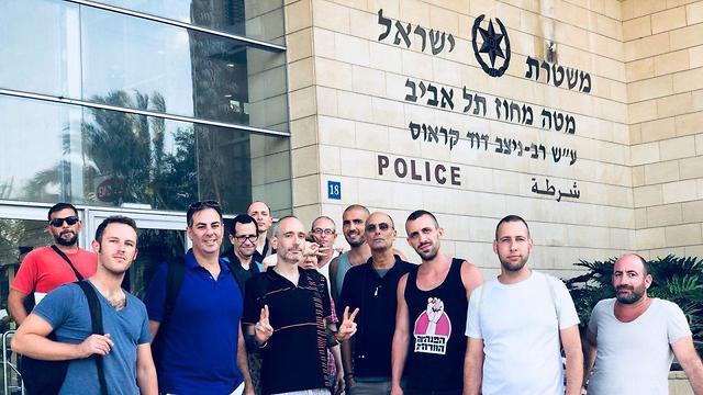 LGBT activists after filing police complaints