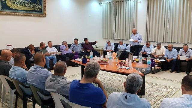 Meeting of the Druze community leaders (Photo: Al-Sadr)