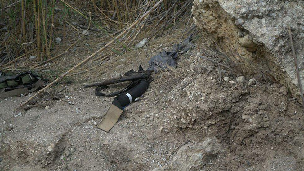 Weapons found at the scene (Photo: IDF Spokesperson's Unit)