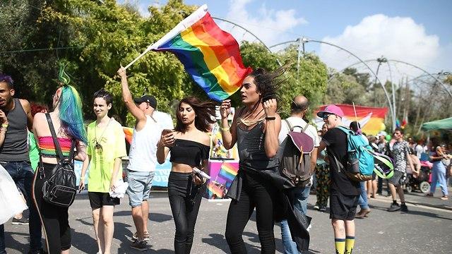 מצעד הגאווה בירושלים לשנת 2018 (צילום: אוהד צויגנברג)