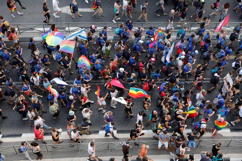 מצעד הגאווה בירושלים לשנת 2018 (צילום: EPA)