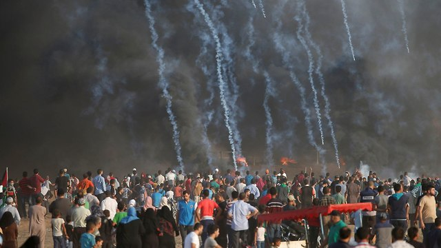 Gaza border clashes (Photo: Reuters)
