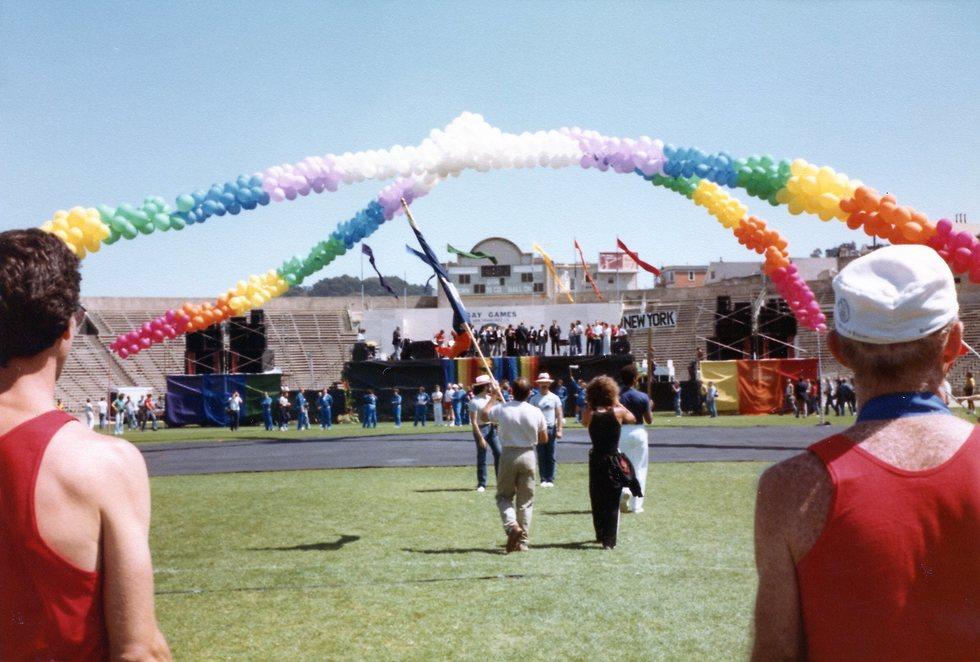 המשחקים הגאים הראשונים ב-1982 בסן פרנסיסקו (צילום: Gay Games Federation)