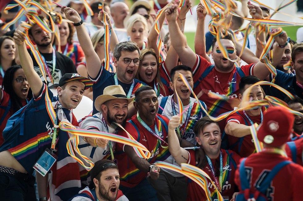טקס הפתיחה של המשחקים הגאים בפריז (צילום: AFP)