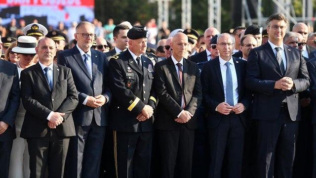 Brig. Gen. (res.) Michel Ben Baruch at the parade (Photo: Croatian Defense Ministry)