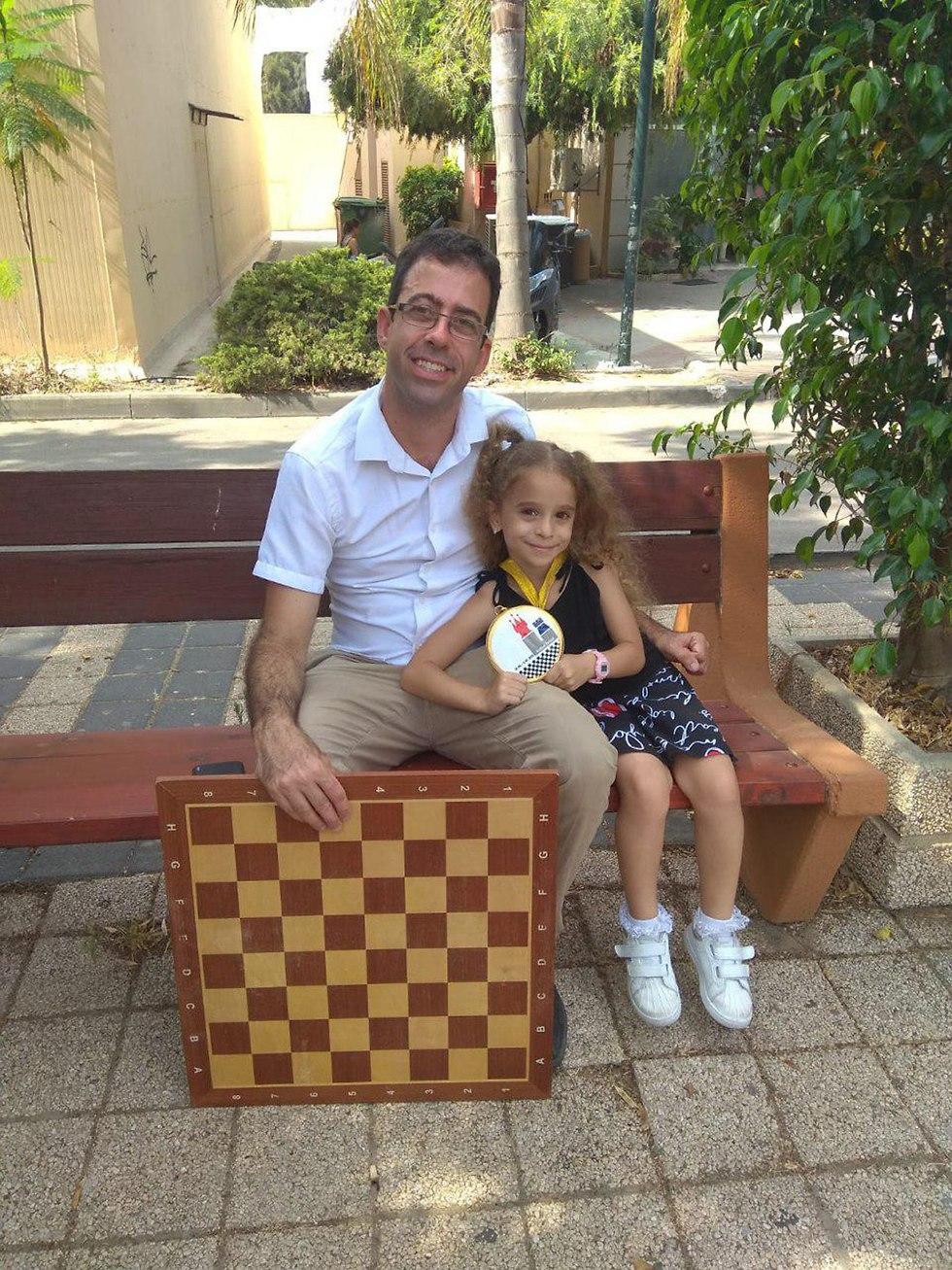 Liel Levitan with father