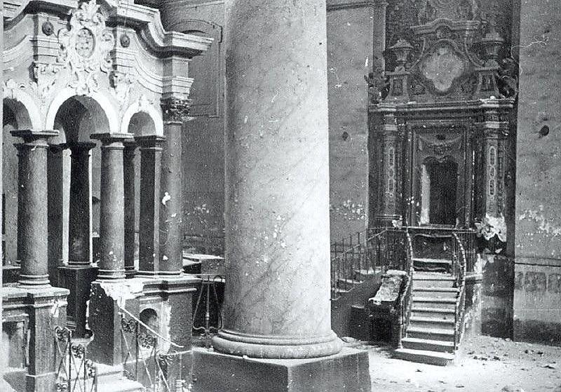 בית הכנסת הגדול בווילנה בשיא תפארתו. נותרה רק תמונה