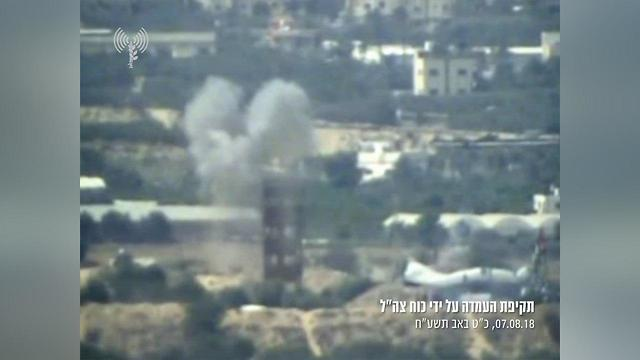 IDF attacks Hamas position in response (Photo: IDF Spokesman's Office)