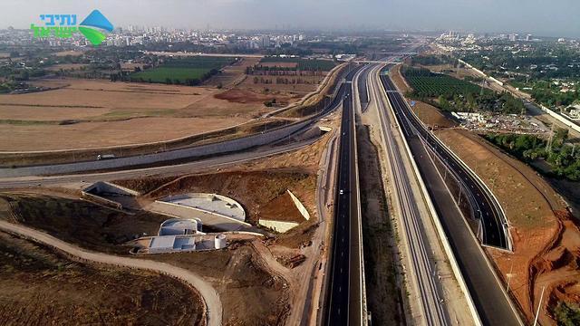 צילומי רחפן של הכביש (צילום: נתיבי ישראל)