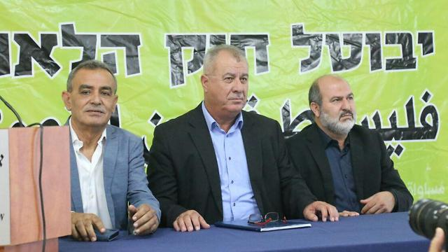 High Follow-Up Committee for Arab Citizens of Israel announces campaign against Nationality Law (Photo: Motti Kimchi)
