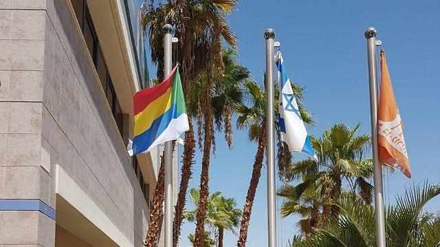 חוק הלאום לאום דרוזים סטודנטים תמיכה דגל ישראל דגל דגלים  אוניברסיטת בן גוריון  אילת ()