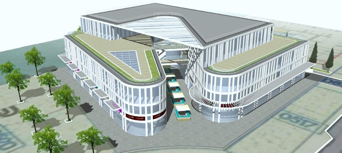 מרכז עסקים כרמי גת (הדמיה: אדריכל יגאל לוי)