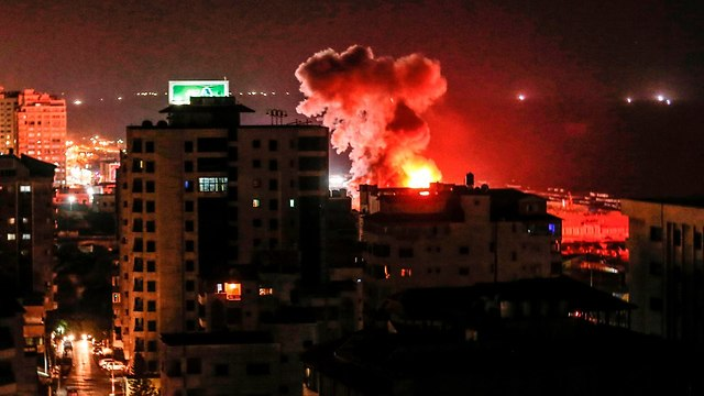 IDF bombardments in Gaza overnight (Photo: AFP)
