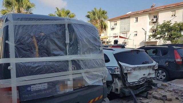 הבית בשדרות שנפגע (צילום: אביחי מרציאנו, רדיו דרום)