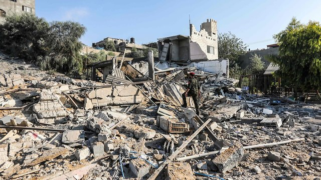 Damage in Gaza following IDF attacks (Photo: AFP)