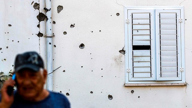 Damage caused by rocket fired from Gaza (Photo: AFP)