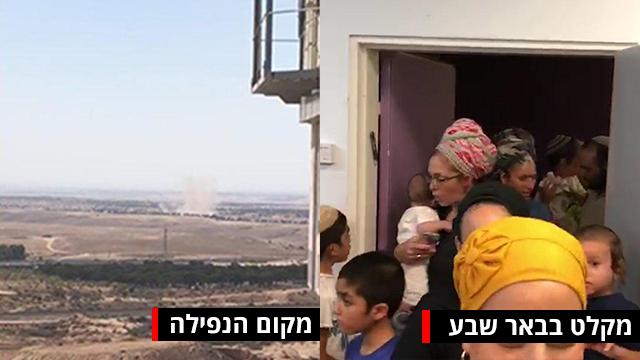 אזעקה ראשונה בבאר שבע מאז מבצע צוק איתן (צילום: הרצל יוסף)