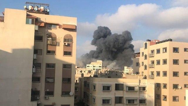 שכונה שכונת רימאל רצועת עזה תקיפה תקיפת צה
