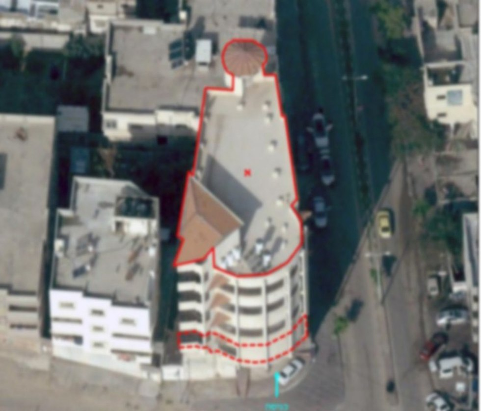 תקיפת בניין המשרת את כוחות ביטחון הפנים של ארגון הטרור חמאס בצפון רצועת עזה. (צילום: דובר צה