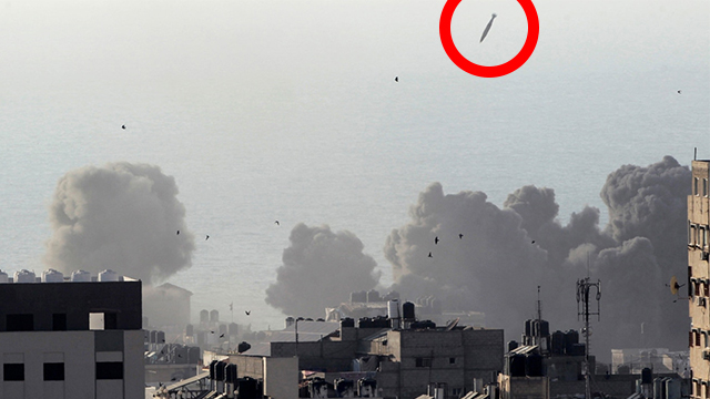 IAF missile dropped on building (Photo: AP)