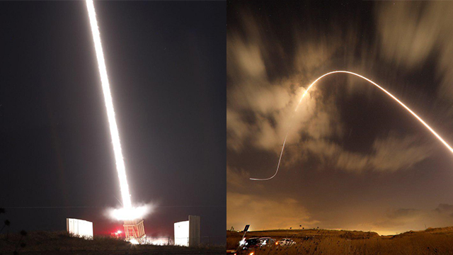 Iron Dome intercepts Gaza rockets (Photos: EPA, Reuters)