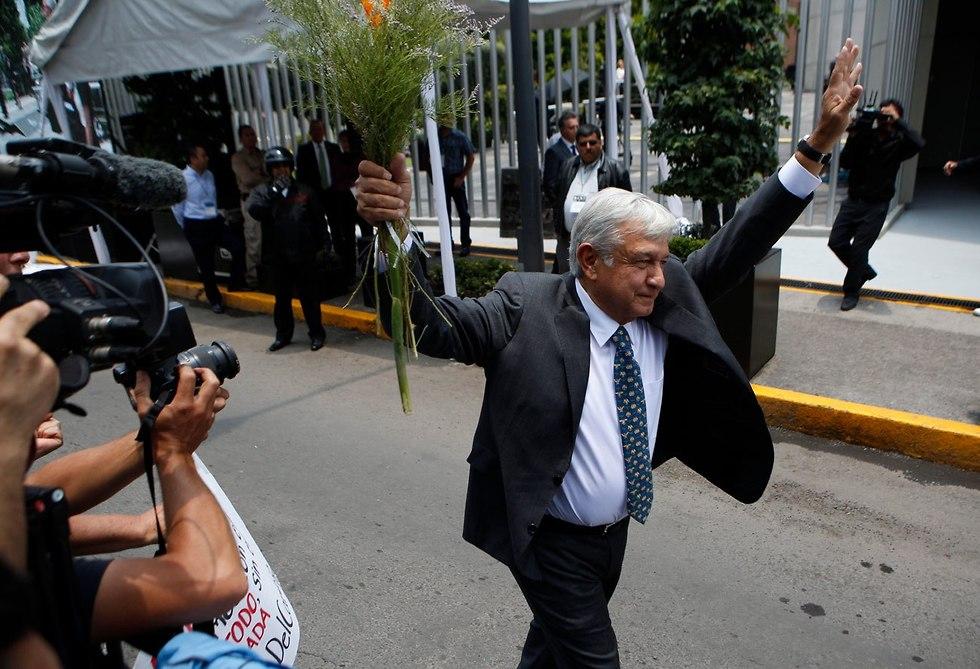 נשיא מקסיקו אנדרס מנואל לופז אוברדור אמלו (צילום: AP)