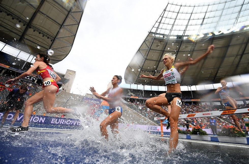 אדווה כהן אליפות אירופה 3000 מטר מכשולים (צילום: גטי אימג'ס)