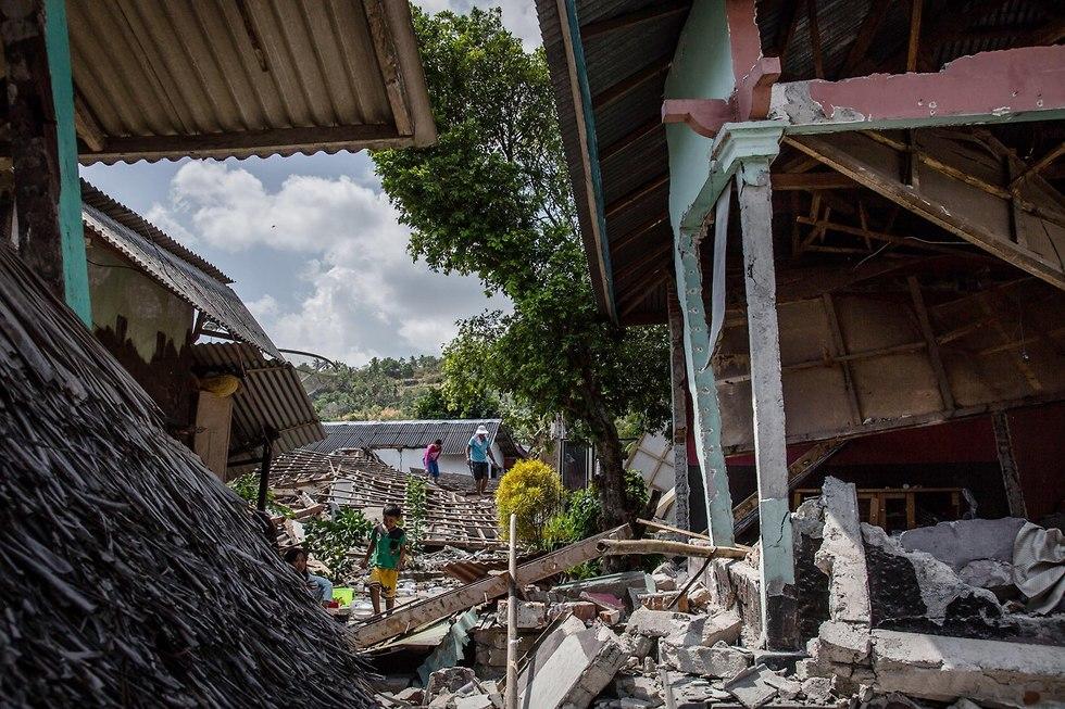 רעידת אדמה בלומבוק שבאינדונזיה (צילום: gettyimages)